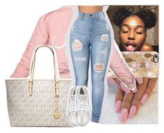 """one and only x mila j"" by lamamig ❤ liked on Polyvore featuring Casetify, MICHAEL Michael Kors and NIKE"