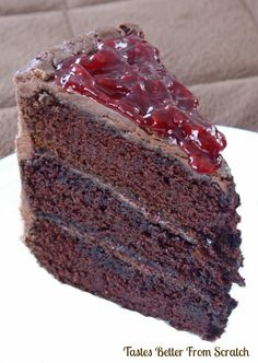 Chocolate Cake with Raspberry Filling - Tastes Better From Scratch