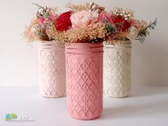 Painted Distressed Mason Jars Home Wedding Decor Pencil Holder Vase Centerpiece by BeachBlues on Etsy https://www.etsy.com/listing/119678450/painted-distressed-mason-jars-home