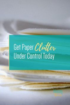 Stop Paper Clutter Use These Tips To Organize Paperwork - How to Organize Paperwork and Avoid Paper Clutter Organizing Paperwork, Clutter Organization, Small Space Organization, Home Organization Hacks, Organizing Ideas, Bullet Journal Cleaning Schedule, Clutter Control, Paper Clutter, Declutter Your Home