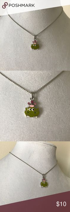 NWOT Cookie Lee cute frog  necklace New without tags's super cute by cookie Lee little frog with cute little hot pink diamond accents Cookie Lee Accessories Jewelry