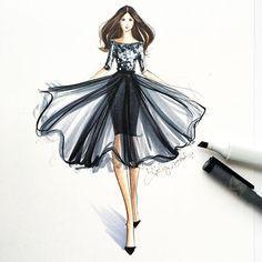Always make an entrance ✨#fashionsketch #fashionillustration #fashionillustrator…