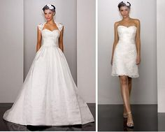 from wedding dress to party dress