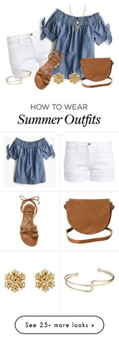 """Summer Wardrobe Capsule: Outfit 1"" by vanessa-bohlmann on Polyvore featuring Frame, J.Crew, Stuart Weitzman and Billabong"