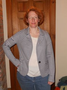 Jacket- a little too big, and I don't know that it hangs just right- needs a little structure to it maybe?