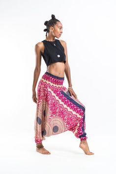 bdc55734960 Geometric Mandalas Jumpsuit Harem Pants in Pink