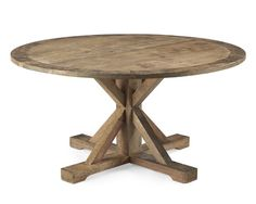 """Reclaimed Wood Pine Round Table Probably 60"""" diameter, stain similar to hutch?  Seating?"""