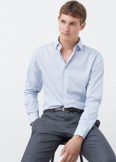 Camisa tailored slim-fit estructura - Camisas de Hombre   MANGO Man España
