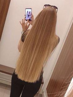 Ideas For Hair Goals Long Straight Face Shape Hairstyles, Permed Hairstyles, Straight Hairstyles, Cool Hairstyles, Long Hair Styles Straight, Beautiful Long Hair, Gorgeous Hair, Blonde Hair Goals, One Length Hair