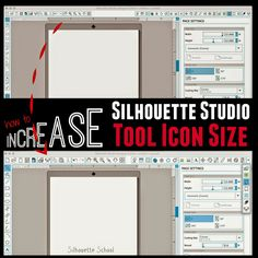 Did you know there's a way to increase the size of the tool bar icons in Silhouette Studio? There totally is and it's really simple to do. There are so many icons it can sometimes by tough to see, esp