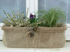 Love this jute planter!