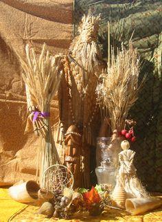 Lugnasad:  Grains and corn dolly for #Lugnasad.
