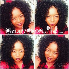 IG: @curlzgonewild_ Two week old crochet braids using Freetress deep twist. Protective styling