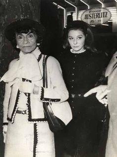 Coco Chanel with Bettina Graziani.