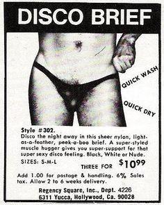 the disco brief...looks like a bikini wax is needed!