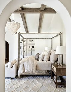Room Vine Decor Neutral Bedroom Ideas - Textiles Wooden Beams and White Walls make this bedroom natural and luxurious.Room Vine Decor Neutral Bedroom Ideas - Textiles Wooden Beams and White Walls make this bedroom natural and luxurious. Serene Bedroom, Beautiful Bedrooms, Dream Bedroom, Home Decor Bedroom, Modern Bedroom, Design Bedroom, Bedroom Furniture, Contemporary Bedroom, 60s Bedroom