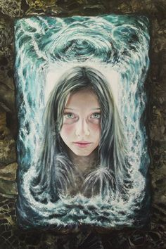 Flood Of Thoughts Painting Original Paintings, Original Art, Surrealism Painting, Fantasy Paintings, Art Prints Quotes, Fantasy Girl, Surreal Art, Artwork Online, Buy Art