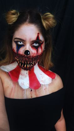 halloween makeup halloween october sf special effects clown makeup evil clown freak show freakshow american horror story teeth evil sad clown scary clown fx