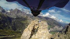 Wingsuit Flight Through 2 Meter Cave - Uli Emanuele Get your GoPro at Para Gear today! http://www.paragear.com/skydiving/10000000/L12623/ #gopro #paragear #uliemanuele
