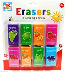 Pack of 8 Scented Erasers Fun Arts And Crafts, Arts And Crafts Supplies, Party Gift Bags, Party Favors, Eraser Collection, Office Branding, School Parties, Stationery Set