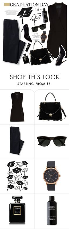 """No 372:Graduation Day Dress"" by lovepastel ❤ liked on Polyvore featuring Sinclair, BCBGMAXAZRIA, ASOS, Lands' End, Ray-Ban, Darice, Marc Jacobs, Chanel, BRAD Biophotonic Skin Care and NYX"