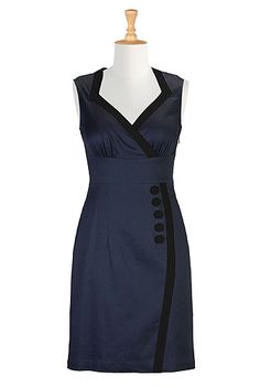 I <3 this Color tipped sheath dress from eShakti