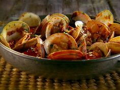 Steamed Clams with Chorizo and Tequila Recipe : Marcela Valladolid : Food Network - FoodNetwork.com