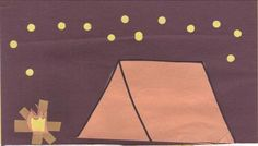 Hole Punch Camping Craft.