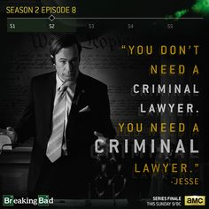 Breaking Bad You Need A Criminal Lawyer Saul Goodman hd wallpaper Breaking Bad Saul, Breaking Bad Quotes, Breaking Bad Tv Series, Saul Goodman, Crime, Movies And Series, Call Saul, Great Tv Shows, Say My Name