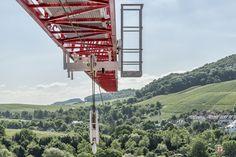 Spitzenloser WOLFF Kran reloaded - Das jüngste Mitglied der clear-Kran-Familie im 140 m Bereich präsentiert sich mit technischen Modifikationen: Eine neue Spur- und Führungsrolle sorgt für einen optimalen Lauf entlang des Auslegers.