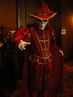 Another WOW costume.  The Masque of the Red Death, PotO