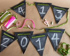 Over the Moon Chalkboard Pennant Set