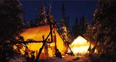 Pourvoirie (Outfitter) du Lac-Beauport - spend the night in an igloo or Prospector's Camp... Quebec, 15 mins outside Quebec City.  Kid-friendly!  So want to do this.