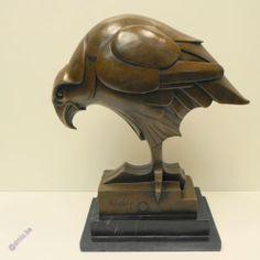 Sculpture Eagle / Bird Art Deco Style Bronze