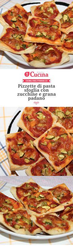 #Pizzette di pasta sfoglia con #zucchine e grana padano della nostra utente Simona. Unisciti alla nostra Community ed invia le tue ricette!