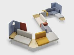Corals Seating System  http://www.archiproducts.com/en/news/52439/corals-a-new-perspective-for-office-space.html    See our collection of:  25 Modular Office Seating Systems  http://vurni.com/office-modular-office-seating/