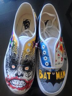 Batman vs. Joker - Custom Shoes Created by Daniel... | HeroChan