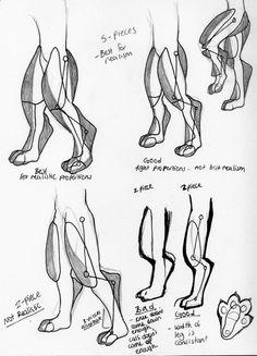 Digitigrade leg foaming study (in fursuits) by ~10kk on deviantART
