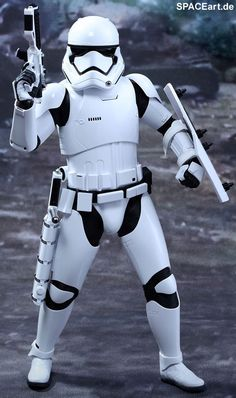 Star Wars: Finn und First Order Riot Control Stormtrooper, Deluxe-Figuren-Set (voll beweglich) ... https://spaceart.de/produkte/sw110.php