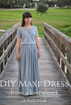 Maxi Dress from Knit Sheet