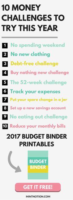 Money Challenge printable | Save Money Fast | Emergency Fund Ideas | Get Out of Debt | Money-saving hacks