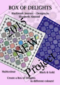 New Free blackwork project 'Box of Delights' Starting in March from  Blackwork Journey www.blackworkjourney.co.uk
