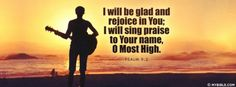Psalms 9:2 - I Will Be Glad And Rejoice In You - Facebook Cover Photo
