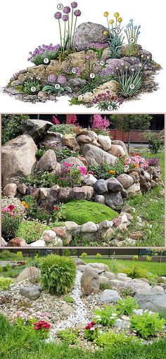 How To Use Succulent Landscape Design For Your Home Rockery Garden, Succulents Garden, Succulent Rock Garden, Garden Shade, Garden Bed, Garden Paths, Landscaping With Rocks, Front Yard Landscaping, Rock Garden Design