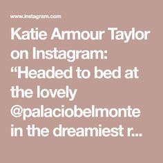 """Katie Armour Taylor on Instagram: """"Headed to bed at the lovely @palaciobelmonte in the dreamiest room on earth. I nearly died when I checked in this morning. The frescoes!…"""" Paneled Walls, Fresco, Armour, Earth, Bed, Room, Instagram, Bedroom, Fresh"""