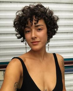 ideas with braiding hair inspiration ideas hairstyle ideas ideas curly hair ideas for dance competitions ideas for heart shaped face ideas african american ideas for short curly hair Short Curly Cuts, Curly Hair Cuts, Wavy Hair, Curly Hair Styles, Short Permed Hair, Curls For Short Hair, Undercut Curly Hair, Short Natural Curly Hair, Medium Curly