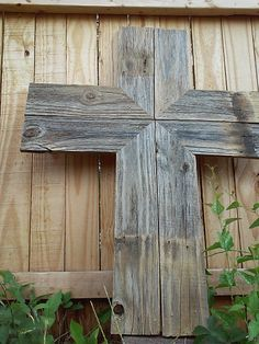 Rustic Wood Cross SALE 25.00