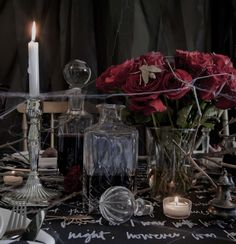 Halloween Addams Family Style!  Black & White + Chevron + Chalkboard + Decanters   Styling & Staging By Pack A Perfect Party  Photography By Michael Williams
