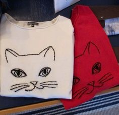 Kitties for Autism! 50% of these 100% cashmere sweaters directly benefit Autism Society of NC www.kat-cashmere.com