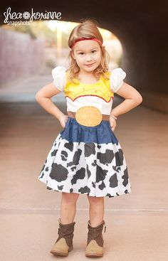 possible dress for first day at disneyland.  Jessie Inspired Dress by PlayfulPrincesses on Etsy, $95.00